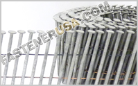15° Wire Weld Coil Siding Nails