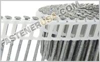 15 Degree Plastic Inserted Coil Siding Nails