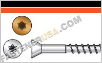 Deck-Drive ™ DWP WOOD SS Screw, Trim Head