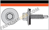 Self-Drilling Hex-Washer Head Screw with EPDM Sealing Washer