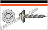 Metal-Panel Screw with EPDM Washer