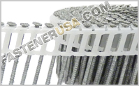 15° Plastic Inserted Coil Siding Nails
