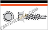 Self-Drilling Hex-Washer Head Screw