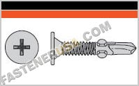 Self-Drilling Wafer-Head Screw with Wings