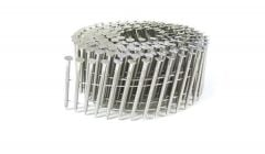 """1 3/4"""" x .093 RING 304 STAINLESS COIL NAILS 15 DEGREE WIRE 3.6M Box"""