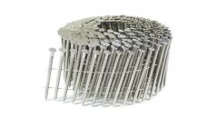 """2"""" x .093 RING 304 STAINLESS COIL NAILS 15 DEGREE WIRE 900ct SidePak"""