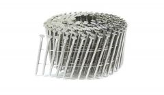 """2-1/4"""" x .093 RING 304 STAINLESS COIL NAILS 15 DEGREE WIRE 3.6M Box"""
