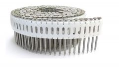 """1-7/8"""" x .086 RING 304 STAINLESS COIL NAILS 0 DEGREE PLASTIC 2.4M Box"""