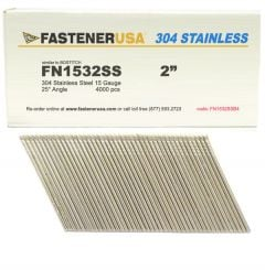 """2"""" FN1532SS ANGLE FINISH NAILS 15 GAUGE 304 STAINLESS 4M Box"""