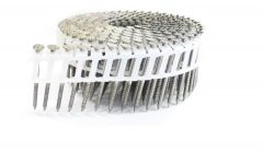 """1-3/4"""" x .092 RING 304 STAINLESS COIL NAILS 15 DEGREE PLASTIC 3.2M ProPak"""