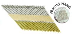 """3-1/4"""" x .131 RING 304 STAINLESS STRIP NAILS 34 DEGREE ROUND HEAD 1M Box"""