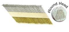 """2 3/8"""" x .113 RING 304 STAINLESS STRIP NAILS 34 DEGREE ROUND HEAD 1M Box"""