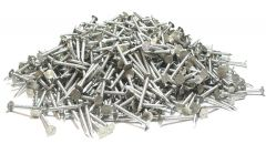 """2"""" x 10-GAUGE 6D SMOOTH 304 STAINLESS ROOFING NAILS 25lb"""