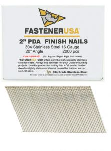 """2"""" ANGLE FINISH NAILS 16 GAUGE 304 STAINLESS STEEL 2M Box"""